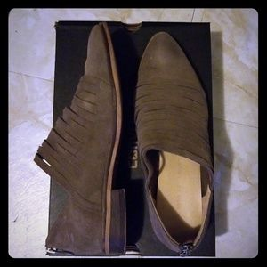 Taupe Suede Chinese Laundry Booties - Size 8.5